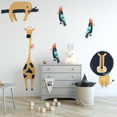 naklejka ze zwierzętami do pokoju dziecka