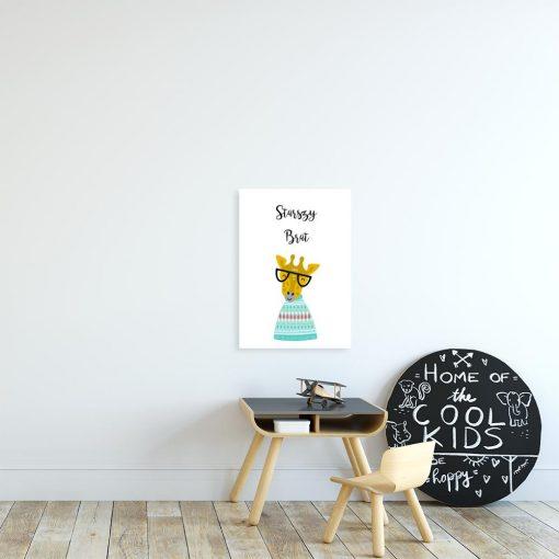 plakat dziecięcy z żyrafą