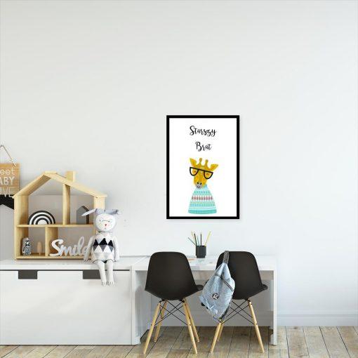 plakat dla dziecka z motywem żyrafy