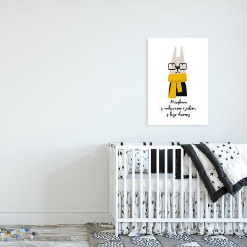 plakat dla dziecka ze zwierzęciem
