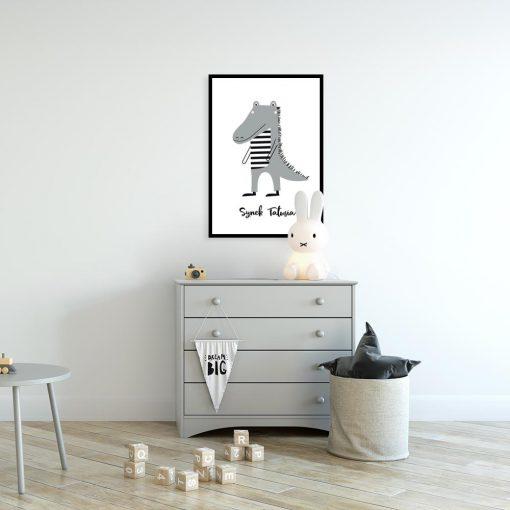 plakat do pokoju dziecka z krokodylem