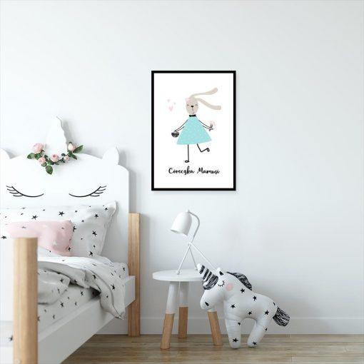 plakat dla dziecka z króliczkiem