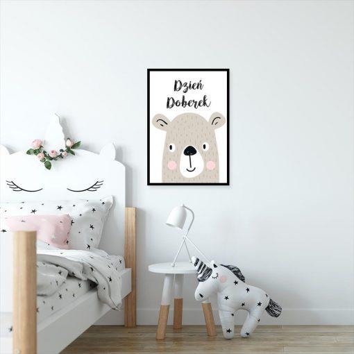 plakat dla dziecka z napisem Dzień Doberek