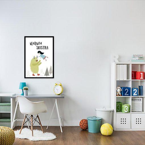 plakat dla dziecka z potworkiem