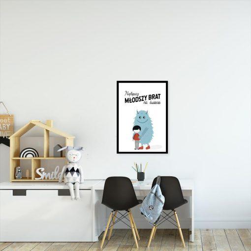 plakat dla dziecka z kosmitą