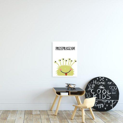 plakat do pokoju dziecka z motywem kosmity