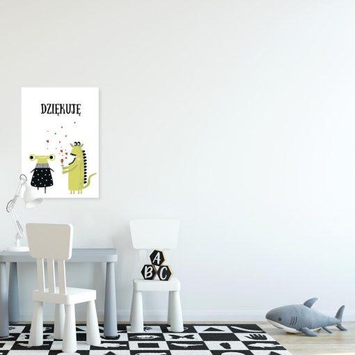 plakat dla dziecka ze zwrotem grzecznośćiowym