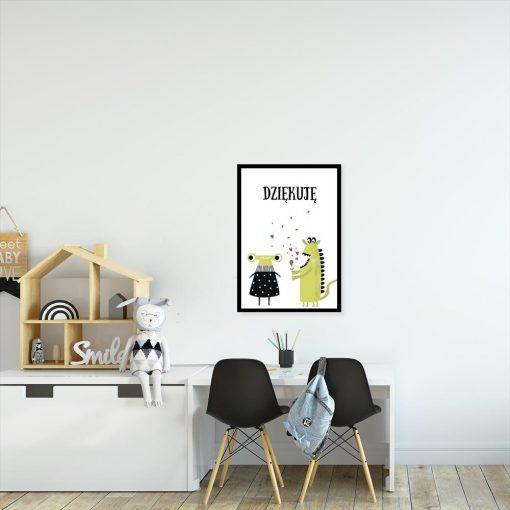 plakat do pokoju dziecka ze słowem Dziękuję