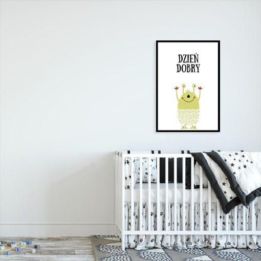 plakat do pokoju dziecka z napisem Dzień dobry