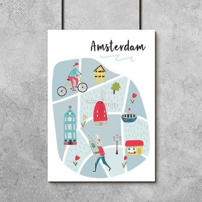 plakat z Amsterdamem