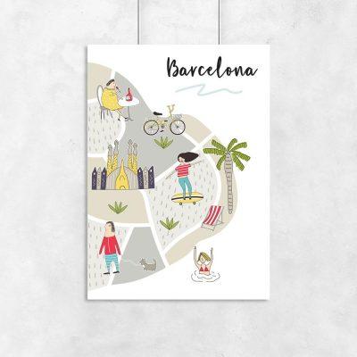 plakat z Barceloną