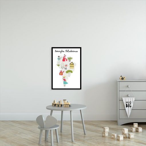 plakat dla dziecka z motywem Ameryki Południowej