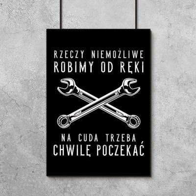 plakat do garażu