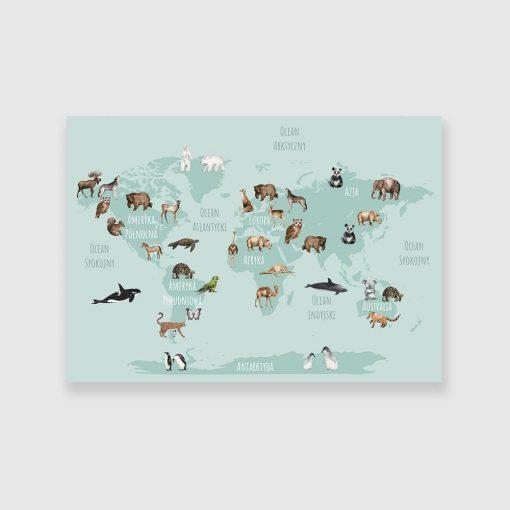obraz dla dziecka z mapą