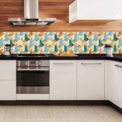 tapeta kuchenna z układanką