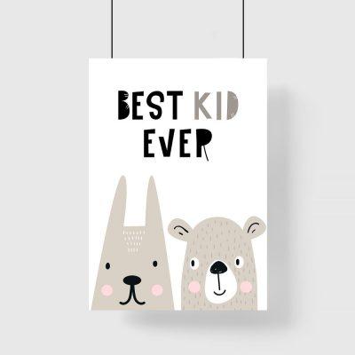 plakat Best kid ever dla dziecka