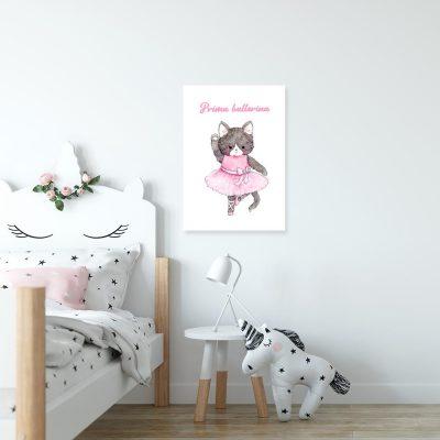 obraz do pokoju dziecka z napisem Prima ballerina
