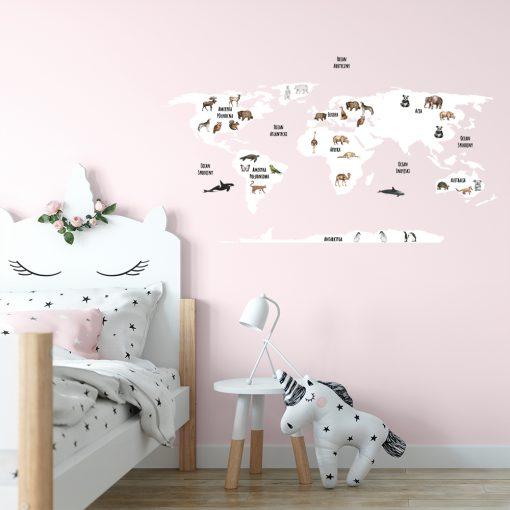 naklejka mapa do pokoju dziecka