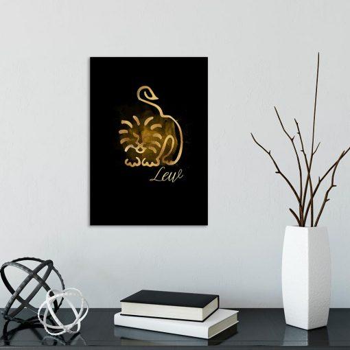 obraz na ścianę z motywem lwa