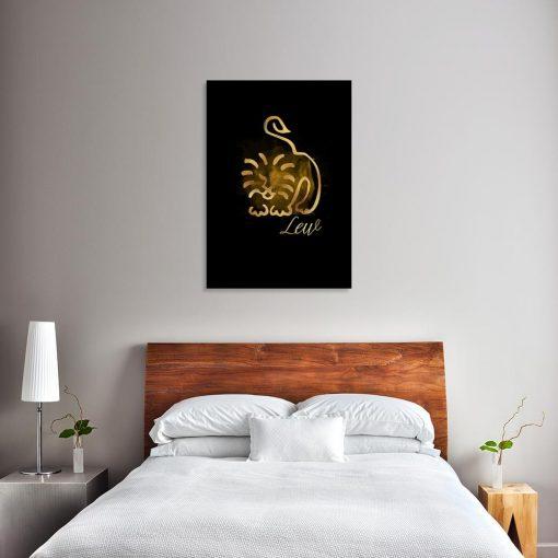 obraz sypialniany ze znakiem zodiaku