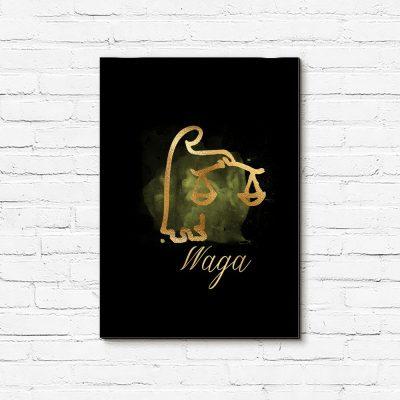 obraz ze znakiem zodiaku Waga