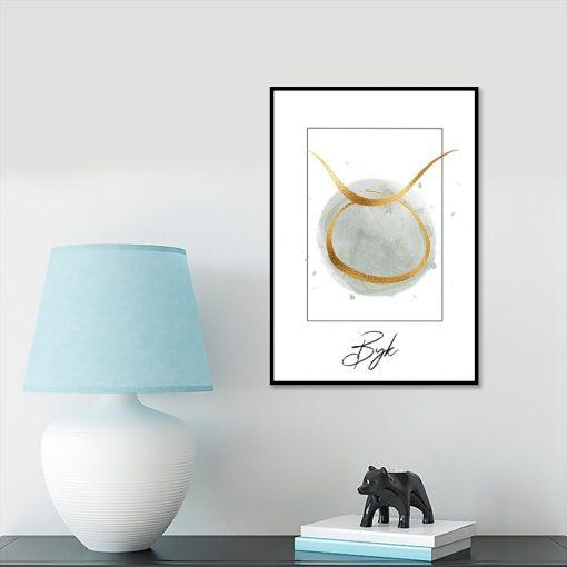 plakat z zodiakiem byka