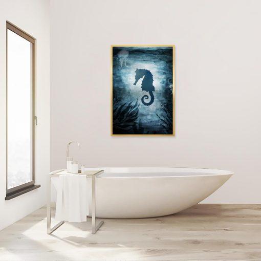 plakat z konikiem morskim