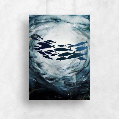 plakat motyw morski