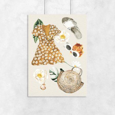 plakat letnia sukienka