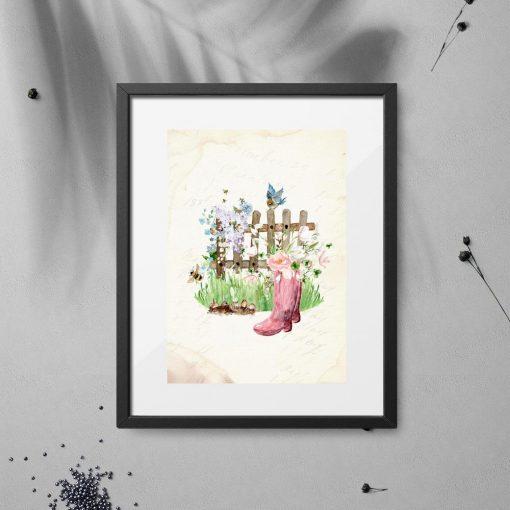 plakat ogród