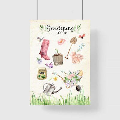 plakat przybory ogrodnicze