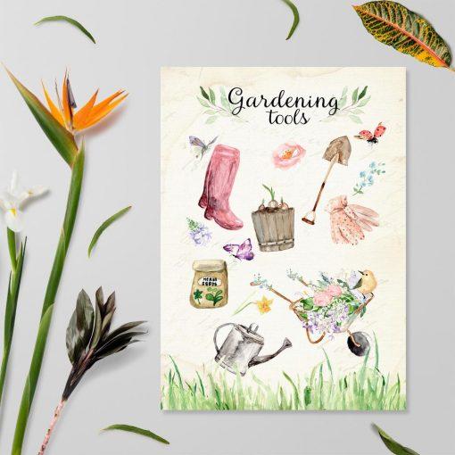 plakat z motywem ogrodu
