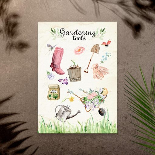 plakat gardening tools