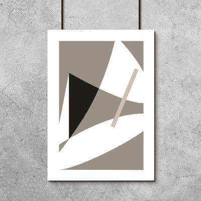 plakat beżowa abstrakcja