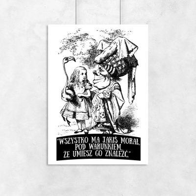 plakat cytat z Alicji w Krainie Czarów