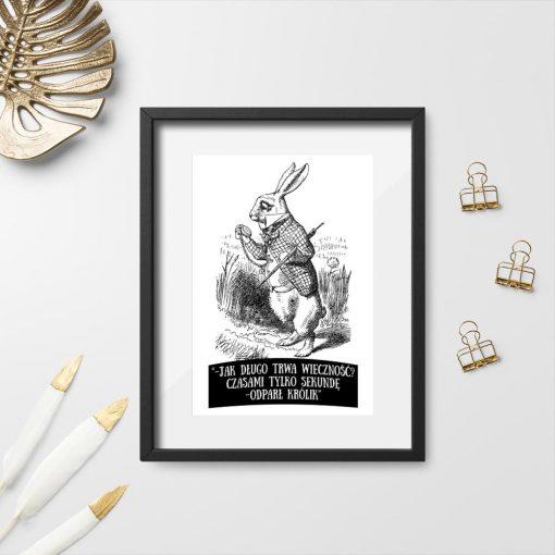 plakat ilustracja i cytat z Alicji w Krainie Czarów
