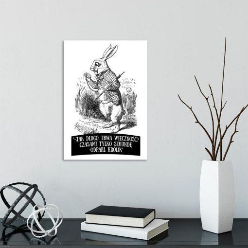 plakat z cytatem z Alicji w Krainie Czarów