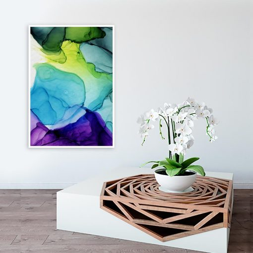 plakat abstrakcyjne plamy