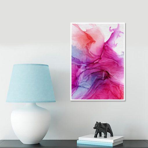 plakat z motywem różowych plam