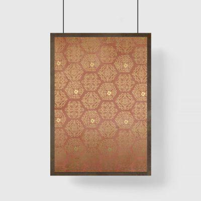 brązowy plakat z mozaiką