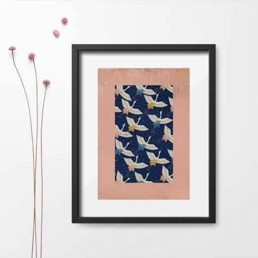 plakat lecące ptaki