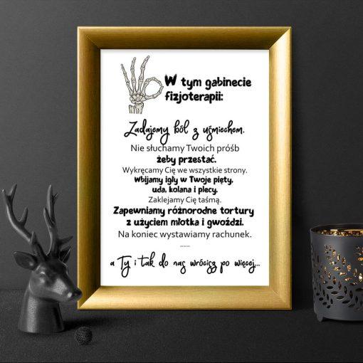 plakat dla fizjoterapeutów