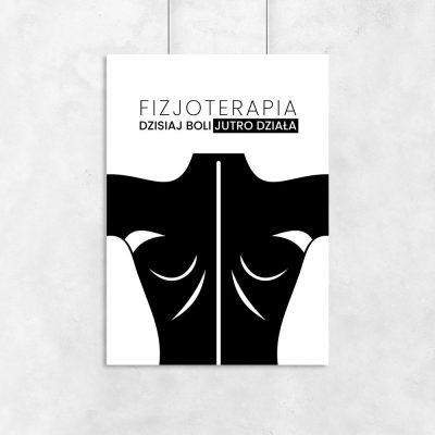 plakat z napisem o fizjoterapii