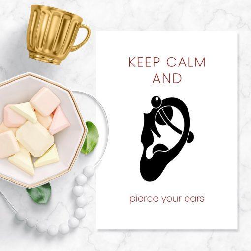 plakat pierce your ears