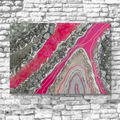 ścienna dekoracja różowa