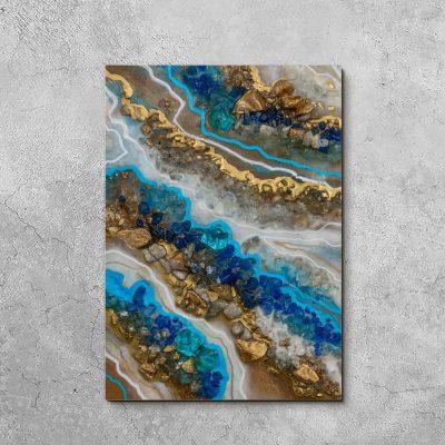 niebieska dekoracja ścienna