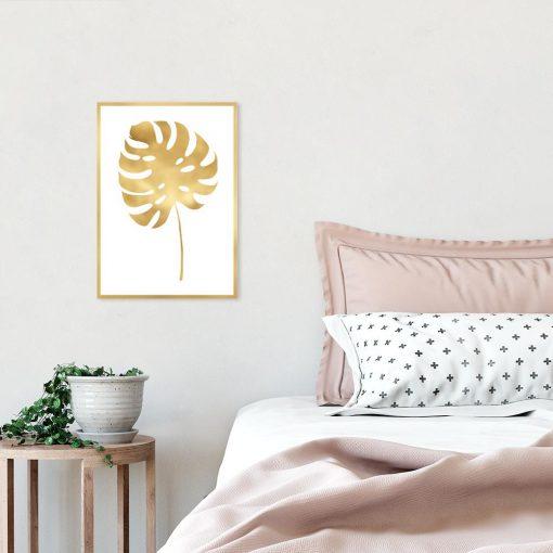 plakat z roślinnym motywem