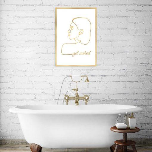 plakat złoty