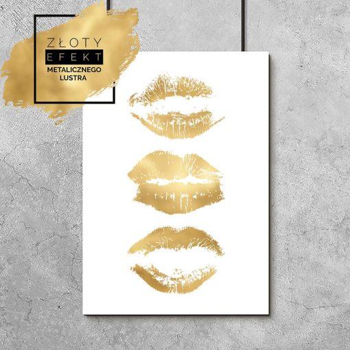 plakat z ilustracją ust