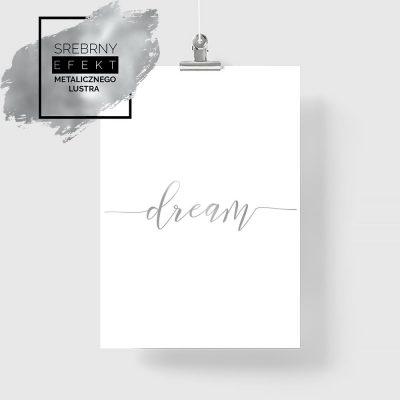 plakat z napisem dream